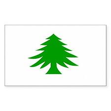 Massachusetts Flag Rectangle Decal