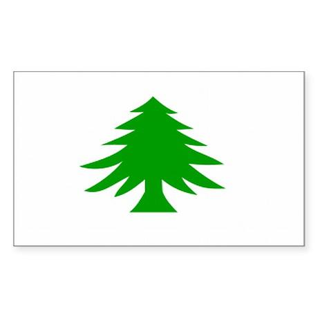Massachusetts Flag Rectangle Sticker