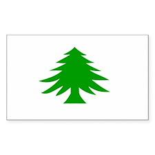 Massachusetts Flag Rectangle Sticker 10 pk)