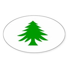 Massachusetts Flag Oval Decal