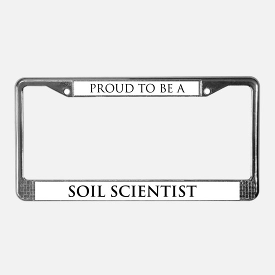 Proud Soil Scientist License Plate Frame