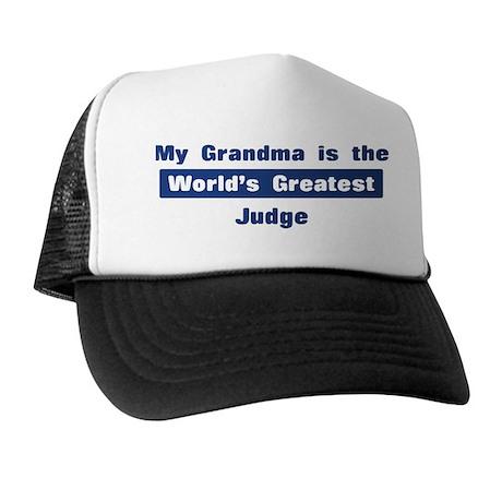 Grandma is Greatest Judge Trucker Hat