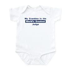 Grandma is Greatest Judge Infant Bodysuit
