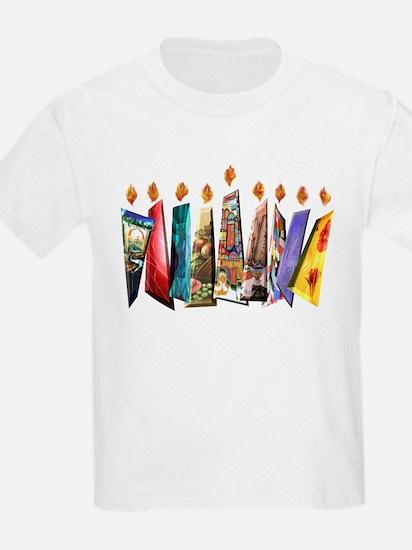 Fabric Chanukah Menorah T-Shirt
