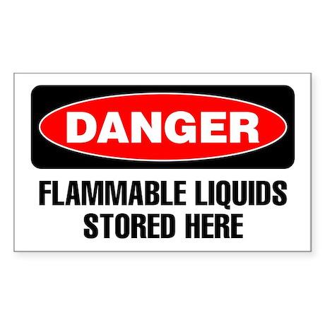 Danger: Flammable Liquids Stored Here Sticker