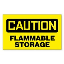 Caution: Flammable Storage Decal