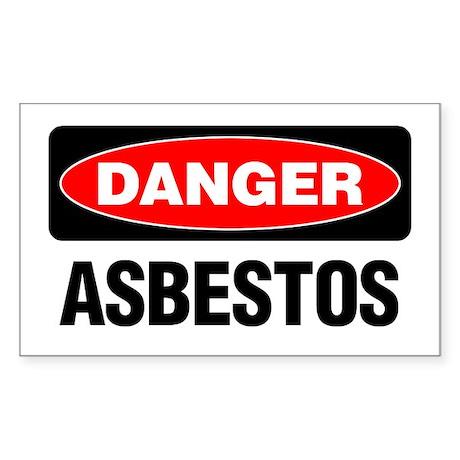 Danger: Asbestos Sticker