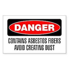 Danger: Contains Asbestos Fibers Avoid Dust