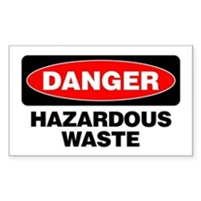 Danger: Hazardous Waste Decal