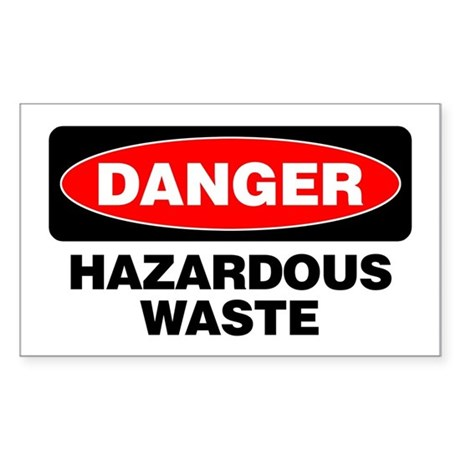 Danger: Hazardous Waste Sticker