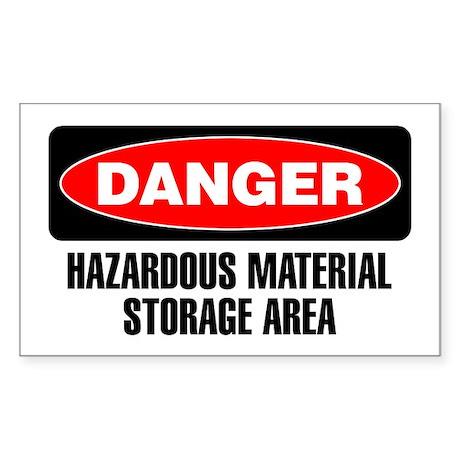 Danger: Hazardous Material Storage Area Sticker