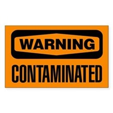 Warning: Contaminated Decal