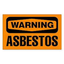 Warning: Asbestos Decal