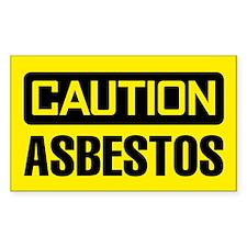 Caution: Asbestos Decal