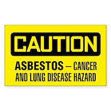 Caution: Asbestos Cancer And Lung Disease Hazard