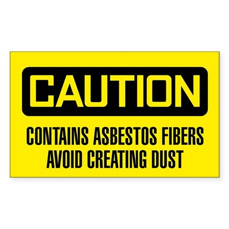 Caution: Contains Asbestos Fibers Avoid Dust