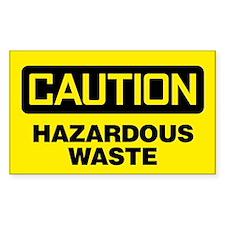 Caution: Hazardous Waste Decal