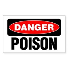 Danger: Poison Decal