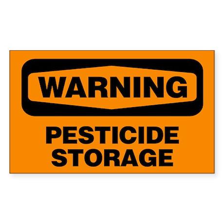 Warning: Pesticide Storage Sticker