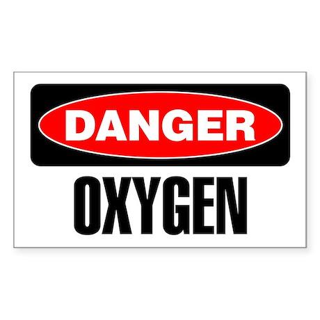 Danger: Oxygen Sticker