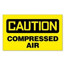 Caution: Compressed Air Decal