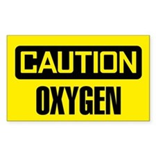 Caution: Oxygen Decal