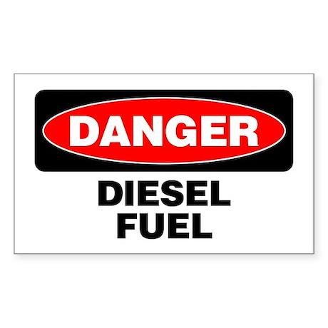 Danger: Diesel Fuel Sticker