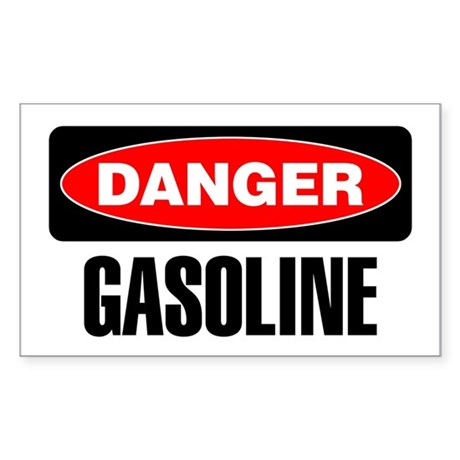 Danger: Gasoline Sticker
