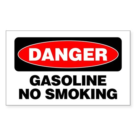 Danger: Gasoline No Smoking Sticker