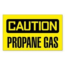 Caution: Propane Gas Decal