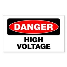 Danger: High Voltage Decal