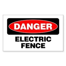 Danger: Electric Fence Decal