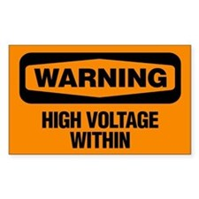Warning: High Voltage Within Decal