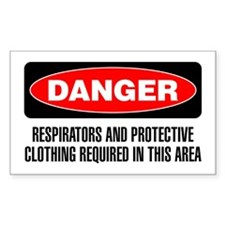Danger: Respirators Required In This Area Decal