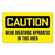 Caution: Wear Breathing Apparatus In Area Decal