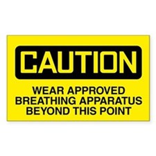 Caution: Wear Approved Breathing Apparatus Decal
