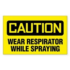 Caution: Wear Respirator While Spraying Decal