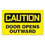 Door opens outwards Single