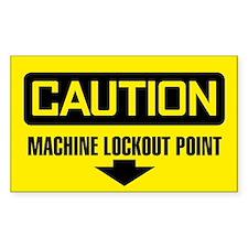 Caution: Machine Lockout Point Decal
