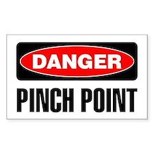 Danger: Pinch Point Decal