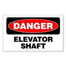 Danger: Elevator Shaft Decal