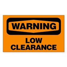 Warning: Low Clearance Decal
