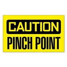 Caution: Pinch Point Decal