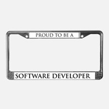 Proud Software Developer License Plate Frame
