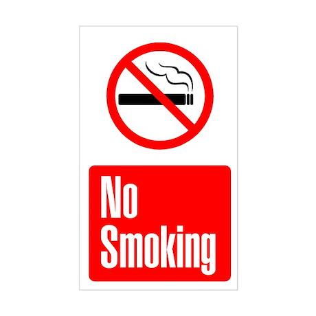 No Smoking Vertical Sticker