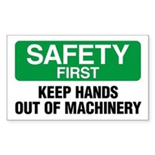 Safety First: Keep Hands Out Of Machinery Decal