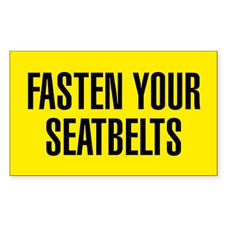 Fasten Your Seatbelts Sticker