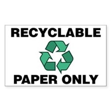 Recyclable Paper Only (w/Recycle Symbol) Decal