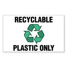 Recyclable Plastic Only (w/Recycle Symbol) Decal