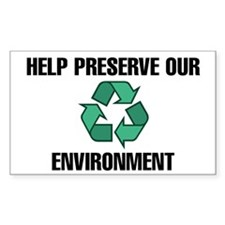 Help Preserve Our Environment (w/Symbol) Decal